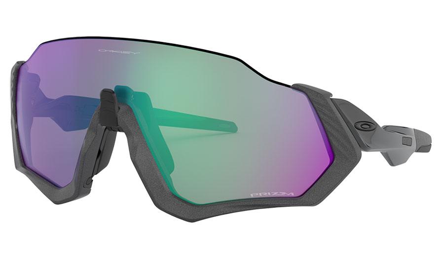 Oakley Flight Jacket Sunglasses - Matte Steel / Prizm Road Jade