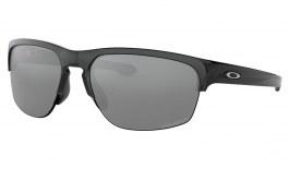 Oakley Sliver Edge Sunglasses - Polished Black / Prizm Black Polarised