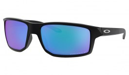 Oakley Gibston Sunglasses - Matte Black / Prizm Sapphire Polarised