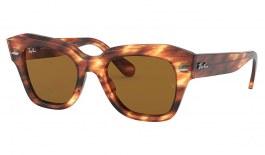 Ray-Ban RB2186 State Street Sunglasses - Striped Havana / Brown