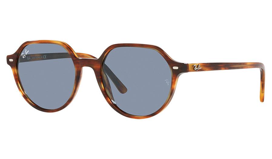 Ray-Ban RB2195 Thalia Sunglasses - Striped Havana / Blue