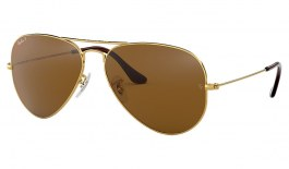 Ray-Ban RB3025 Aviator Sunglasses - Gold / Brown Polarised