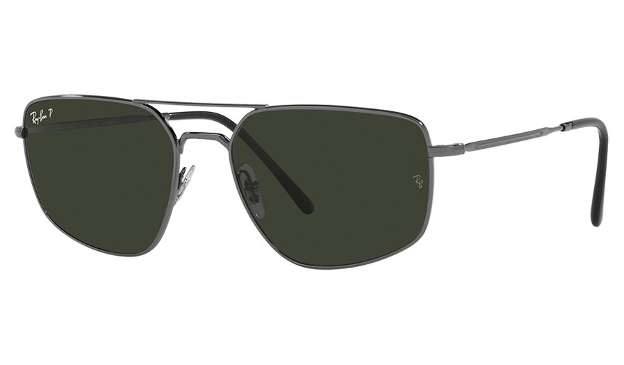 Ray-Ban RB3666 Sunglasses - Gunmetal / Green Polarised