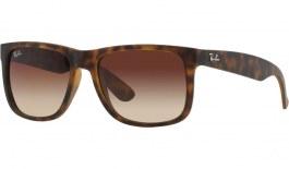 Ray-Ban RB4165 Justin Sunglasses - Havana Rubber / Brown Gradient