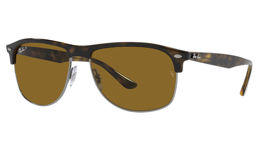 Ray-Ban RB4342 Sunglasses - Black / Brown Polarised