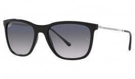 Ray-Ban RB4344 Sunglasses - Black / Blue Grey Gradient Polarised