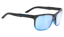 Rudy Project Soundrise Sunglasses - Gloss Black Crystal Blue Fade / Multilaser Ice