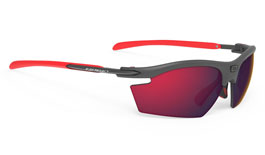 Rudy Project Rydon Prescription Sunglasses - Clip-On Insert - Matte Graphite & Red / Multilaser Red