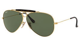 Ray-Ban RB3138 Aviator Shooter Sunglasses