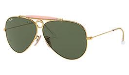 Ray-Ban RB3138 Aviator Shooter Sunglasses