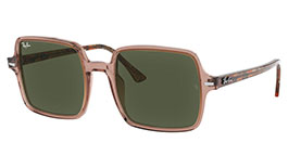 Ray-Ban RB1973 Square II Prescription Sunglasses - Trans Light Brown