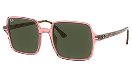 Ray-Ban RB1973 Square II Prescription Sunglasses - Transparent Pink