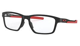 Oakley Metalink Prescription Glasses - Satin Black & Red