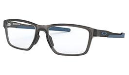 Oakley Metalink Prescription Glasses - Satin Grey Smoke & Blue