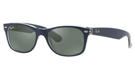 Ray-Ban RB2132 New Wayfarer Prescription Sunglasses - Blue on Transparent