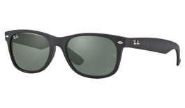 Ray-Ban RB2132 New Wayfarer Prescription Sunglasses - Matte Black