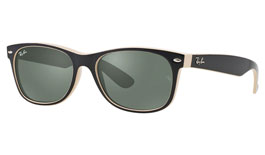 Ray-Ban RB2132 New Wayfarer Prescription Sunglasses - Black & Beige