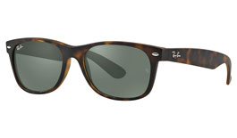 Ray-Ban RB2132 New Wayfarer Prescription Sunglasses - Matte Tortoise