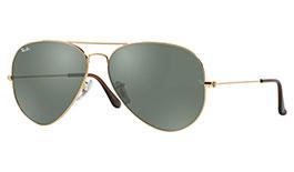 Ray-Ban RB3025 Aviator Prescription Sunglasses - Gold & Brown