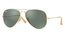 Ray-Ban RB3025 Aviator Prescription Sunglasses - Gold & Nude