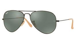 Ray-Ban RB3025 Aviator Prescription Sunglasses - Matte Black & Nude