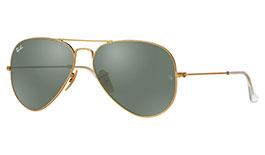 Ray-Ban RB3025 Aviator Prescription Sunglasses - Matte Gold & Clear