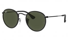 Ray-Ban RB3475Q Round Craft Prescription Sunglasses - Black Leather