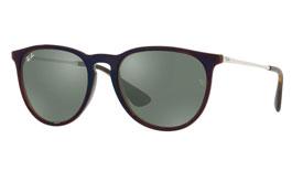 Ray-Ban RB4171 Erika Prescription Sunglasses - Brown & Reflective Blue