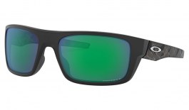 Oakley Drop Point Sunglasses - Prizmatic Collection Matte Black / Prizm Jade Polarised