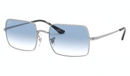 Ray-Ban RB1969 Rectangle Sunglasses - Silver / Light Blue Gradient