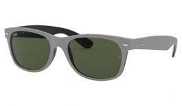 Ray-Ban RB2132 New Wayfarer Sunglasses - Rubber Grey on Shiny Black / Green