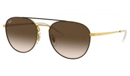 Ray-Ban RB3589 Sunglasses - Gold & Brown	/ Brown Gradient