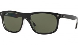 Ray-Ban RB4226 Sunglasses - Black on Transparent / Green Polarised