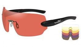 Wiley X Detection Sunglasses - Matte Black / Clear + Yellow + Orange + Purple + Copper