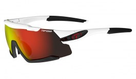 Tifosi Aethon Sunglasses - White & Black / Clarion Red + AC Red + Clear