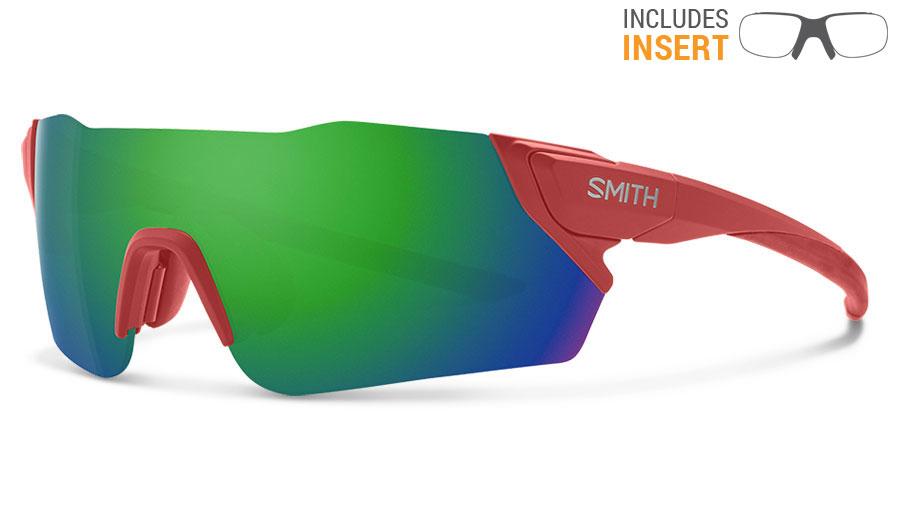Smith Attack Prescription Sunglasses w/ODS4 Insert - Matte Red Rock / ChromaPop Sun Green Mirror + ChromaPop Contrast Rose Flash