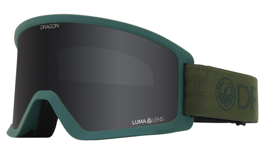 Dragon DX3 OTG Ski Goggles - Light Foliage / Lumalens Dark Smoke + Lumalens Amber