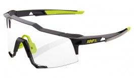 100% Speedcraft Sunglasses - Gloss Black / Photochromic Lens