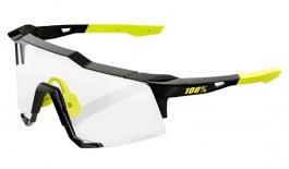 100% Speedcraft Sunglasses - Gloss Black / Clear Smoke Photochromic