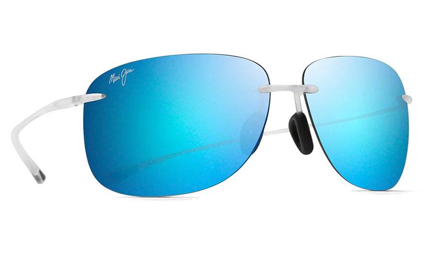 Maui Jim Hikina Sunglasses - Matte Crystal / Blue Hawaii Polarised