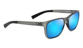 Maui Jim Longitude Sunglasses - Translucent Matte Grey / Blue Hawaii Polarised