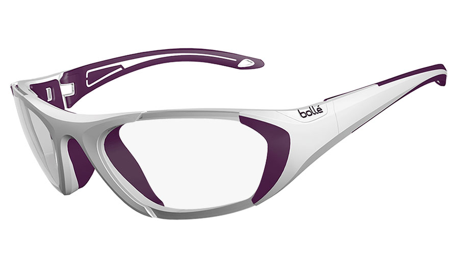 10292d5b7a3 Bolle Baller Prescription Glasses - White   Purple - RxSport