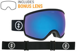 Electric EGG Ski Goggles - Matte Black / Brose Blue Chrome + Yellow Green
