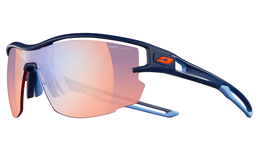 Julbo Aero Sunglasses - Matte Dark Blue / Reactiv Performance 1-3 High Contrast Photochromic