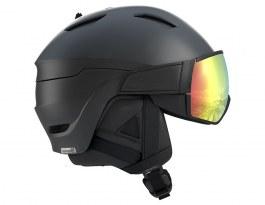 Salomon Driver+ Ski Helmet - Black / ML Red Photochromic