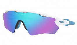 Oakley Radar EV XS Path Sunglasses - Polished White / Prizm Sapphire