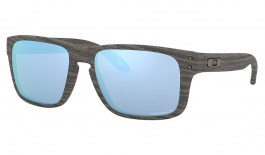 Oakley Holbrook XS Sunglasses - Woodgrain / Prizm Deep Water Polarised
