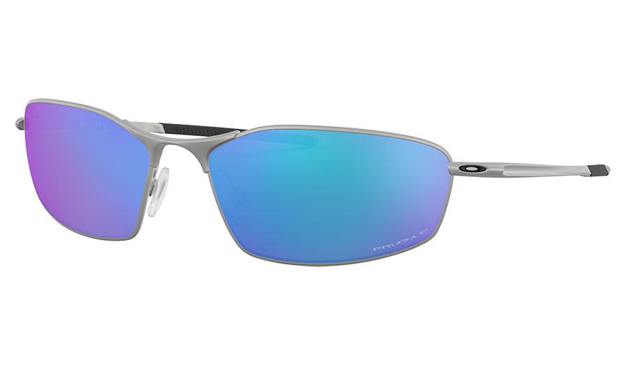 Oakley Whisker Sunglasses - Satin Chrome / Prizm Sapphire Polarised