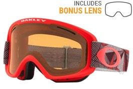 Oakley O Frame 2.0 XM Ski Goggles - Prizmatic Coral Iron / Persimmon + Dark Grey