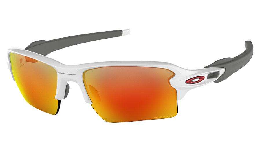 b7e43d06ed7 Oakley Flak 2.0 XL Sunglasses. Frame  Polished White. Lens  Prizm Ruby